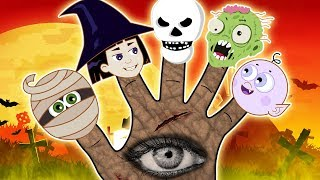 Halloween Finger Family Songs and Spooky Nursery Rhymes For Kids by HooplaKidz Toons
