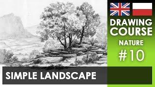 Drawing tutorial - Simple landscape | Kurs rysunku - Prosty krajobraz [S02E10 ENG/PL]