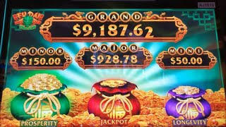 ★NEW GAME Nice Profit★FU DAI LIAN LIAN DRAGON Slot (Aristocrat)  $225.00 Free Play Live $4.40 Bet☆彡栗