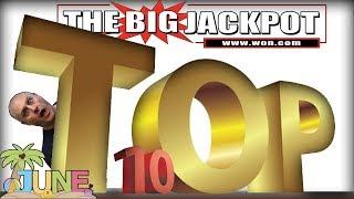 TOP 10 JACKPOTS of JUNE 2018! 💥MEGA WIN$ 💥including THE. BIGGEST. JACKPOT. YET! | The Big Jackpot