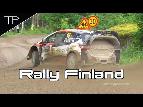 WRC Neste Rally Finland 2017 - Highlights, max attack, jumps and mistakes