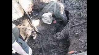Блиндаж с убитыми немцами/ Dugout with dead Germans