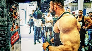 Bodybuilder am Fibo Boxautomat! Wer schafft 999 Punkte? Feat. Kevin Wolter & GN Crew