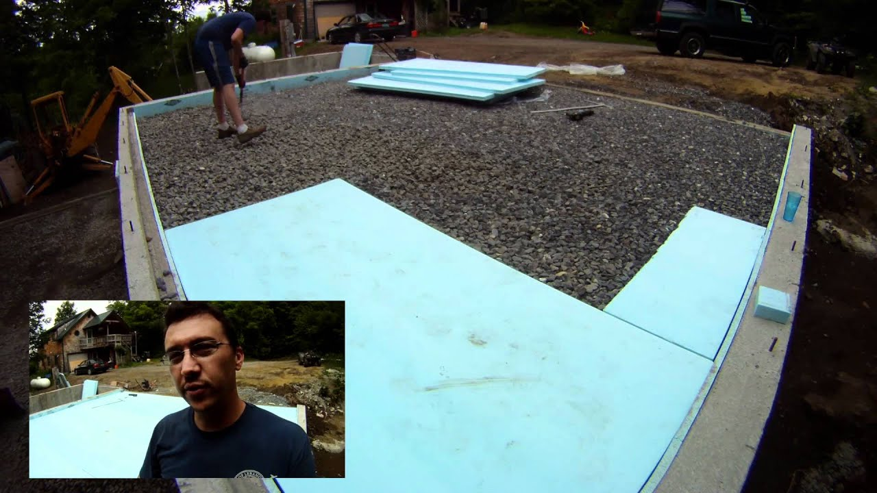 Radiant Pex Tubing Slab Installation   14   My Garage Build HD Time Lapse    YouTube