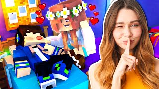 I SLEPT OVER at my GIRLFRIEND'S HOUSE and THIS HAPPENED! (Minecraft)