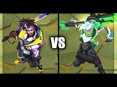 True Damage Ekko vs PROJECT: Ekko Legendary vs Epic Skins Comparison (League of Legends)