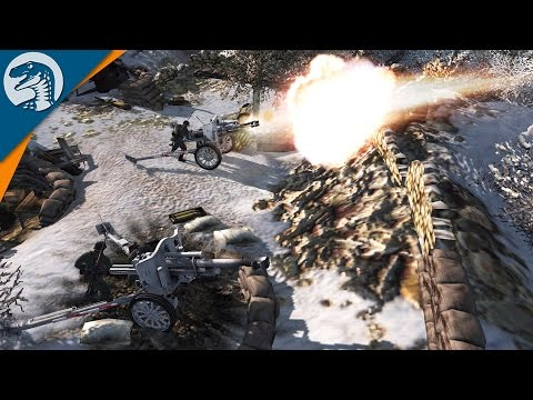 MOUNTAIN BASE ARTILLERY POSITION POUNDS REDS   Robz Realism   Men of War: Assault Squad 2 Gameplay