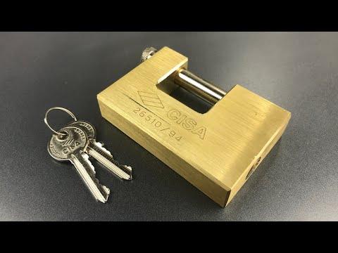 Взлом отмычками CISA Massive  [720] Cisa's Massive 94mm Brass Shutter Lock Picked (Model 26510) ()