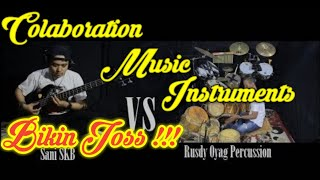 Collaboration of percussion instruments (Rusdy Oyag Percussion) with bass (Sani)