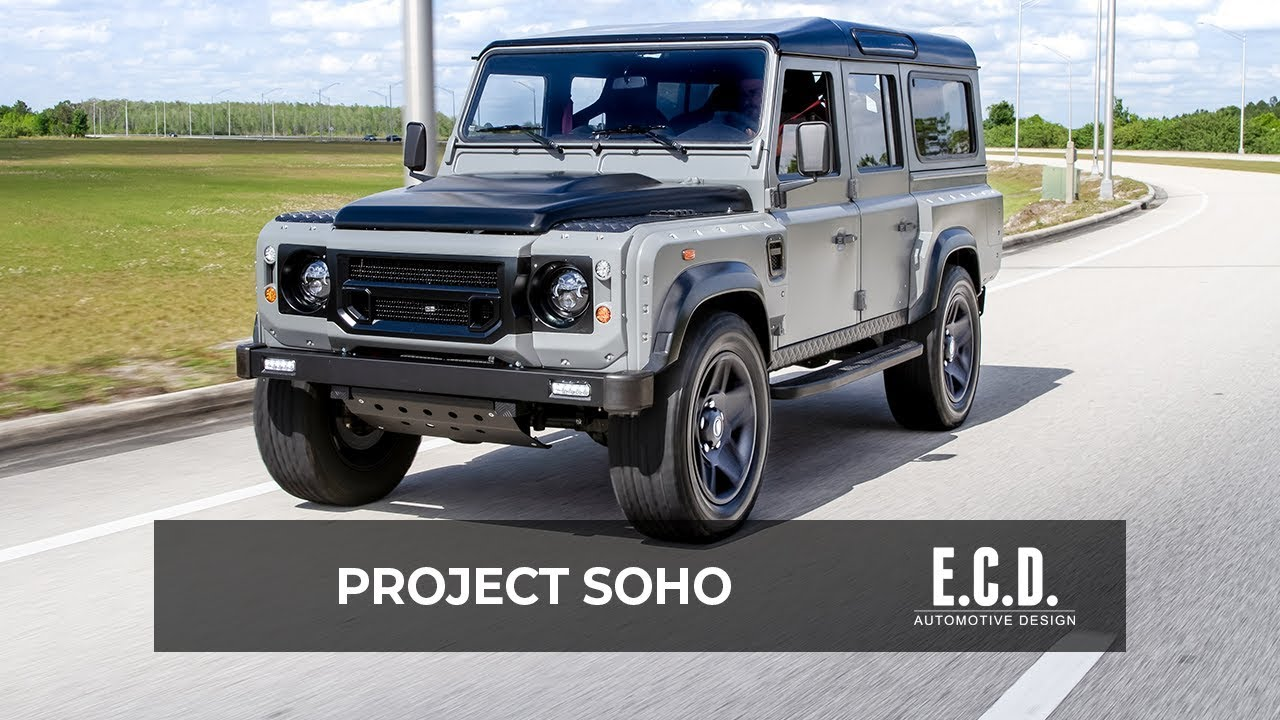 supercar inspired design in this classic british d110 project soho ecd automotive design [ 1280 x 720 Pixel ]