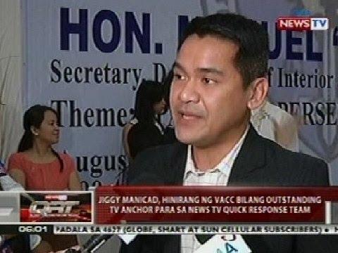 QRT: Jiggy Manicad, hinirang ng VACC bilang outstanding TV anchor sa News TV QRT