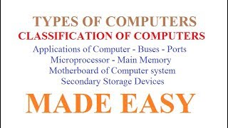 Generation of Computer - Types of Computer - Computer Information Systems