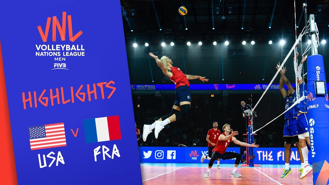 USA vs. FRANCE - Highlights Men | Final Round | Volleyball Nations League 2019