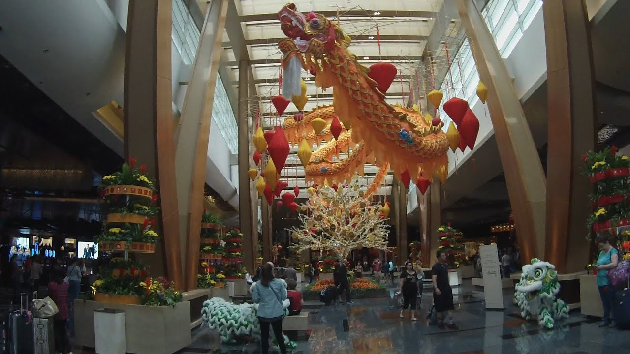 Aria Las Vegas Chinese New Year 2016 Decorations- Year of ...