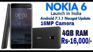 Nokia 6 Launch in India 2017 Full Specifications, Features, Price in India, Release Date