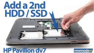 Hp dv7t, dv7 6xxx series 2nd HDD / SSD installation (dv7-6000 cable)