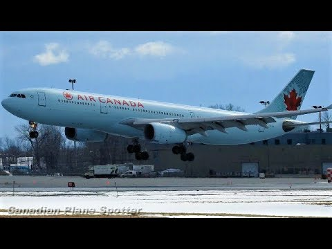 Air Canada A330-300 in Action at Montreal-Trudeau Int'l Airport