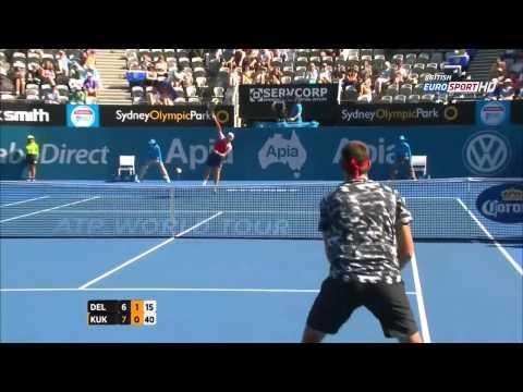 Juan Martin Del Potro vs Mikhail Kukushkin Highlights ATP 2015 Sydney QF