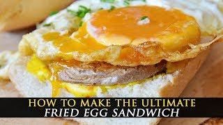 Crispy Fried Egg Sandwich With Potatoes & Saffron Aioli