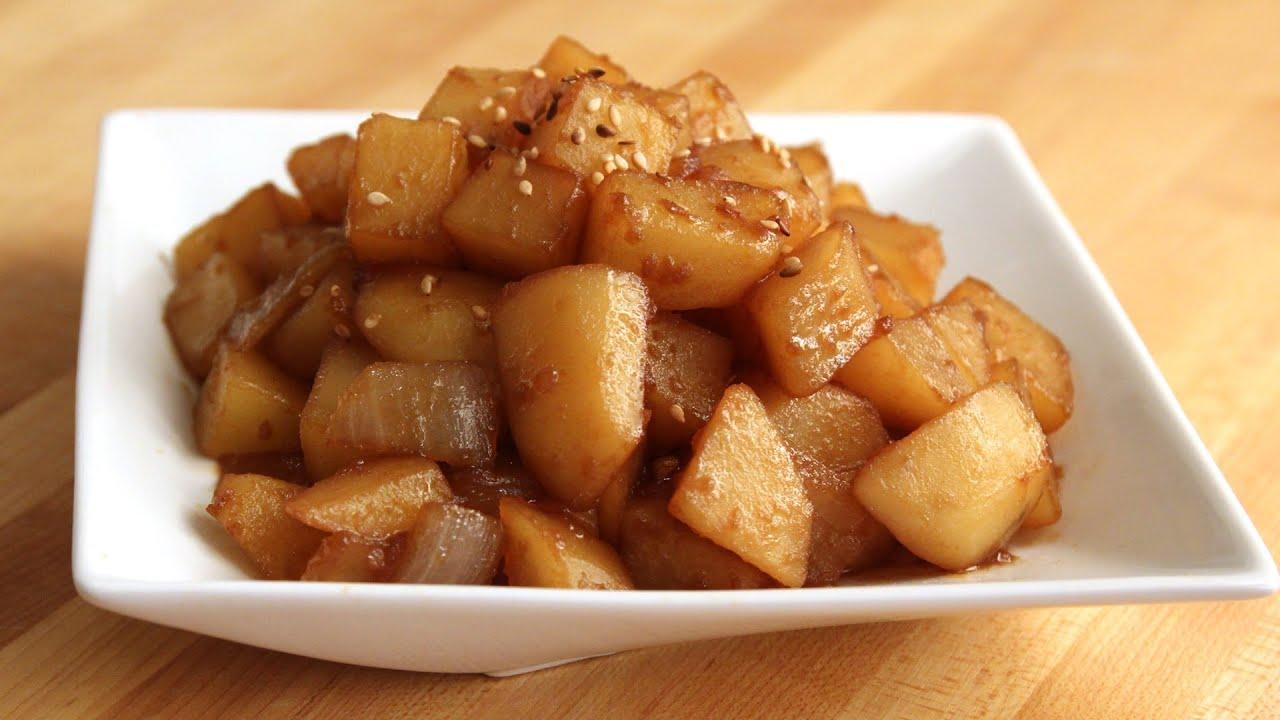 Korean Garlic Mayo Potato Salad Recipe
