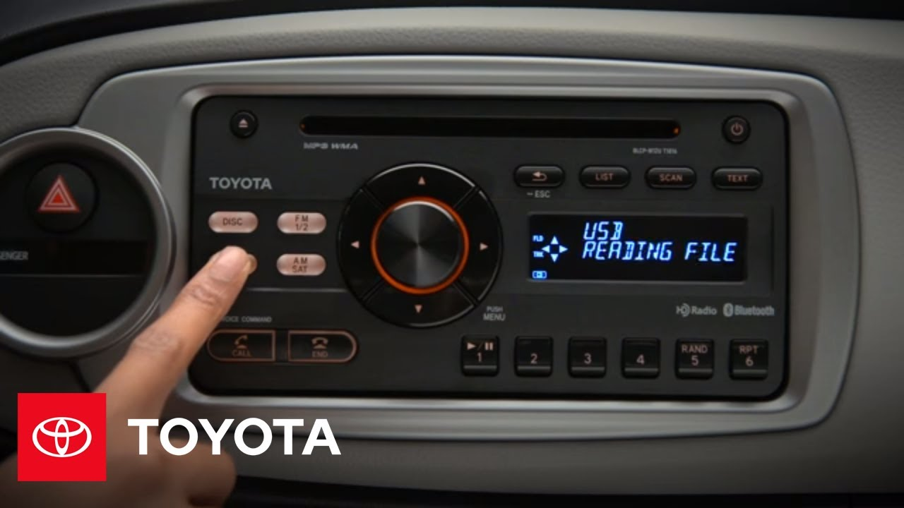 2012 Yaris How To Aux Input Toyota Youtube