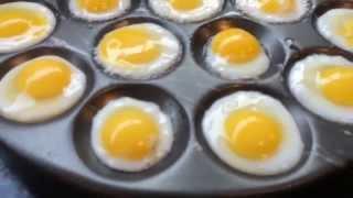 Frying Quails eggs tutorial