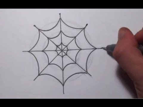 Spider web easy. How to draw a