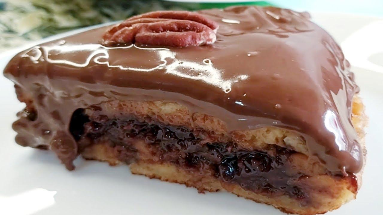 Nadie creerá que lo has hecho con PAN duro, sin horno, Pastel de chocolate delicioso en sartén