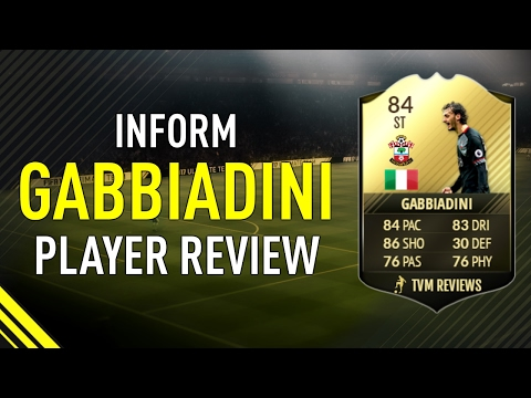 FIFA 17 INFORM GABBIADINI (84) PLAYER REVIEW  GAME STATS & GAME PLAY