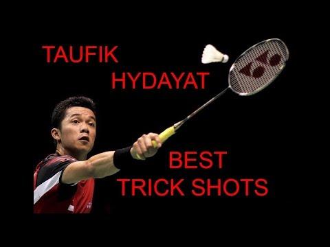 TAUFIK HYDAYAT BEST TRICK SHOTS Badminton
