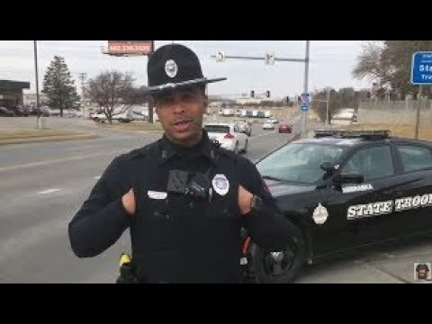 OMAHA NEBRASKA STATE PATROL cops owned I don't answer questions first amendment audit
