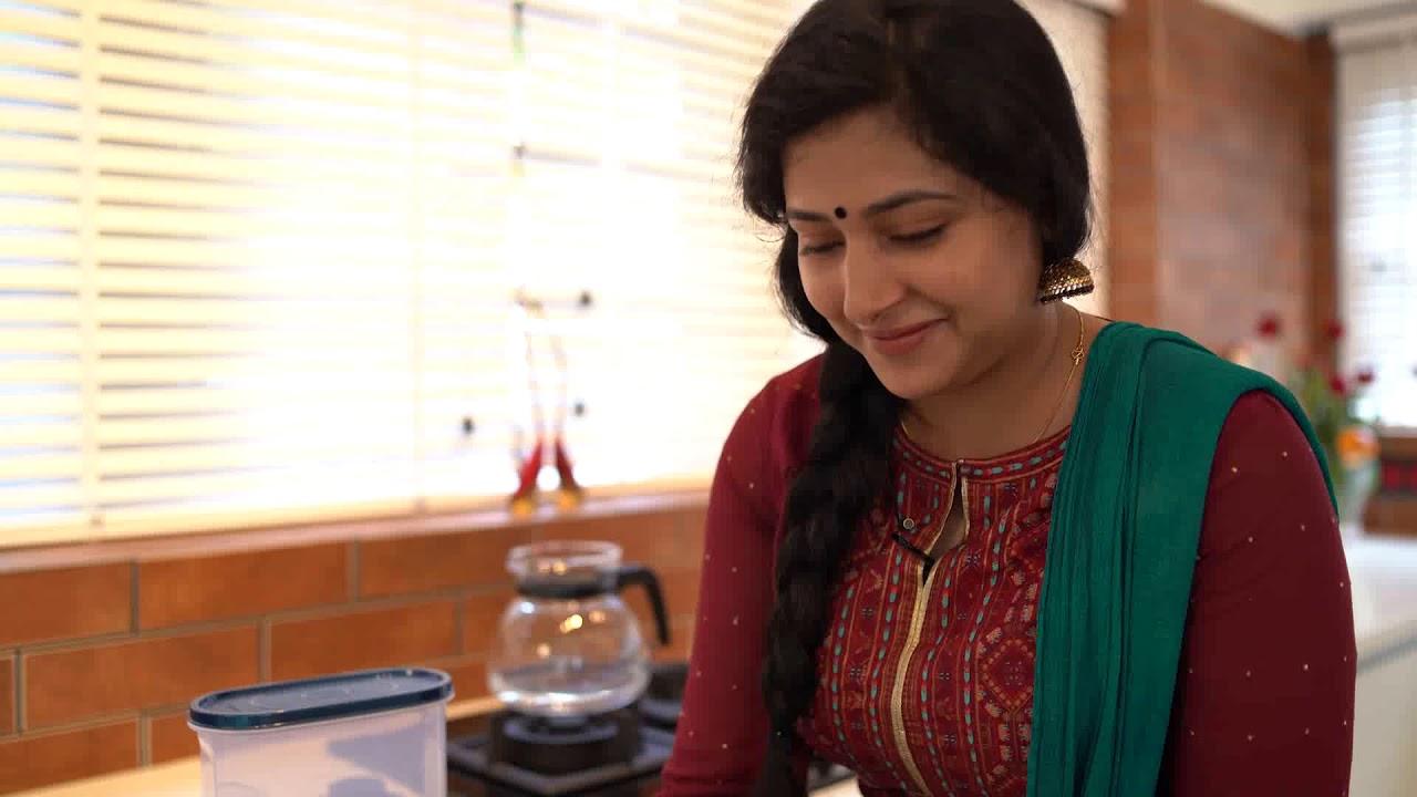 Anu Sithara's new Sleek kitchen