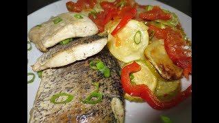 Рыба в духовке с овощами. Быстро, вкусно, легко! ПП рецепт.
