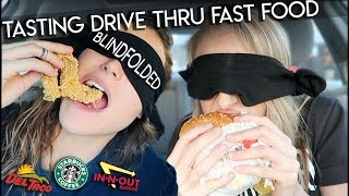 TASTING DRIVE THRU FOOD BLINDFOLDED | Tags & Challenges | AYYDUBS