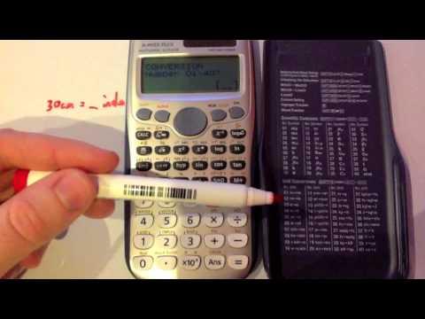 Unit Conversions Casio Fx 991es You