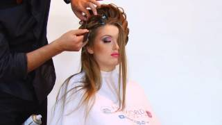 Bridal hair do by Farrukh Shamuratov