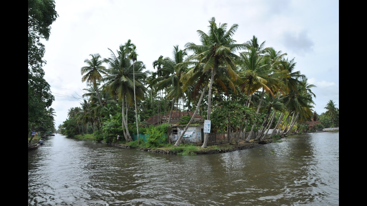 beautiful villages in kerala back water india youtube