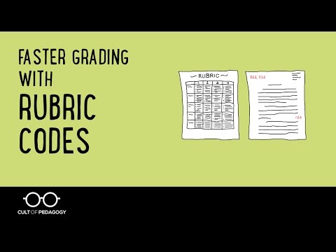 Faster Grading with Rubric Codes
