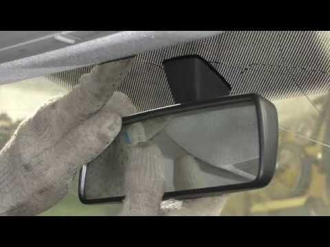 VW Polo Sedan - как снять салонное зеркало заднего вида