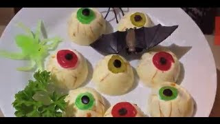 Zombie, Ghoul, Vampire Eyeballs Halloween Theme Party Food Cheekyricho