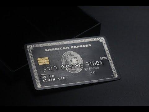 The centurion black card - YouTube