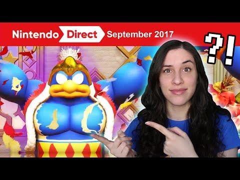 REACTING TO MARIO ODYSSEY, KIRBY STAR ALLIES, XENOBLADE 2! 9.13.17 Nintendo Direct
