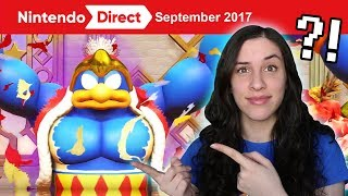 REACTING TO MARIO ODYSSEY, KIRBY STAR ALLIES, XENOBLADE 2! 9.13.17 Nintendo Direct - JustJesss