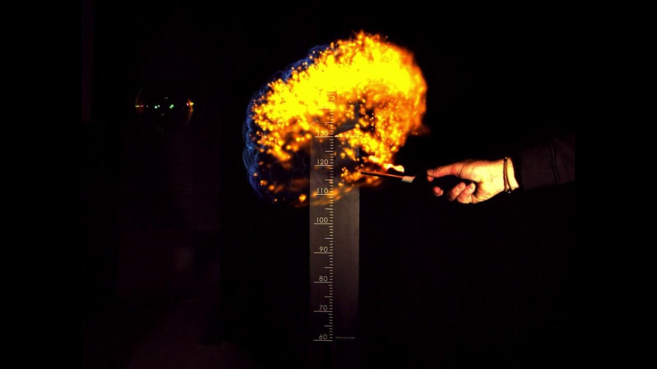Hochgeschwindigkeitsaufnahme einer explosiven Seifenblase (1000 ...