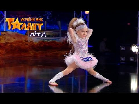 4 years old girl danced brilliantly on Ukraine's Got Talent