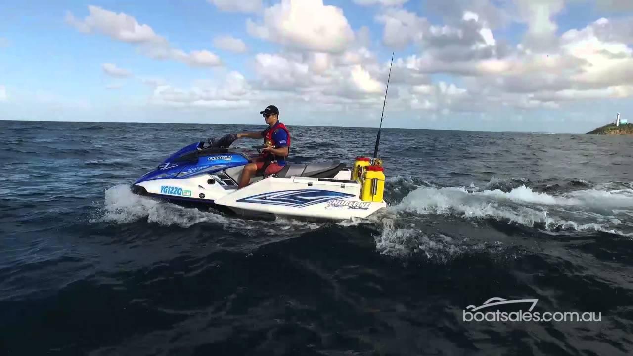 Yamaha fx ho waverunner with a shoreline tubby fishing pod for Jet ski fishing setup