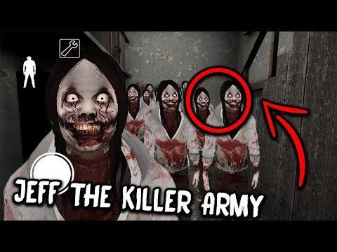 100 Jeff the Killer CLONES in Granny Horror Game... (Granny Mobile Horror Game)