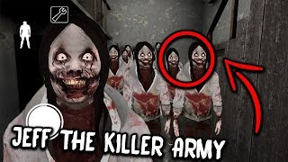 100 Jeff the Killer CLONES in Granny Horror Game... (Granny Mobile Horror Game)