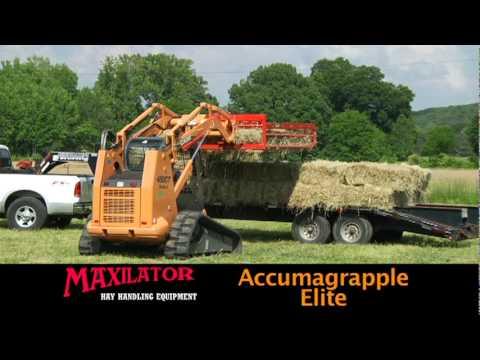 Maxilator Hay Handling Equipment Accumulator, Grapple, & Accumagrapple Elite