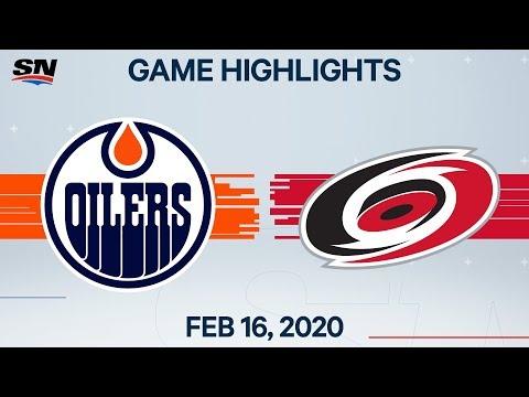 NHL Highlights   Oilers Vs Hurricanes – Feb. 16, 2020